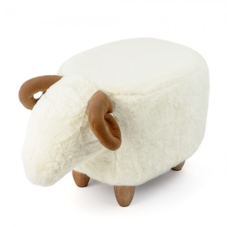 Sheldon the Sheep Footstool - Red Candy