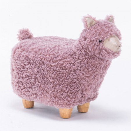Abba the Alpaca Footstool - Red Candy