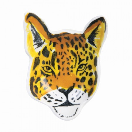 Leopard Face Trinket Tray - Red Candy