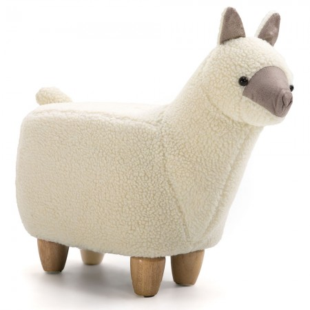 Antonio the Alpaca Footstool - Red Candy