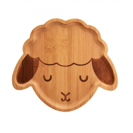 Baa Baa Lamb Bamboo Plate - Red Candy