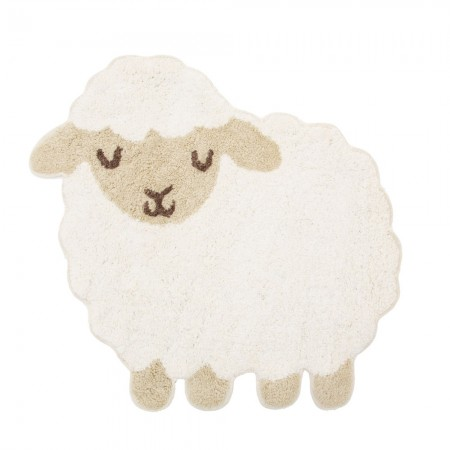 Baa Baa Lamb Rug - Red Candy
