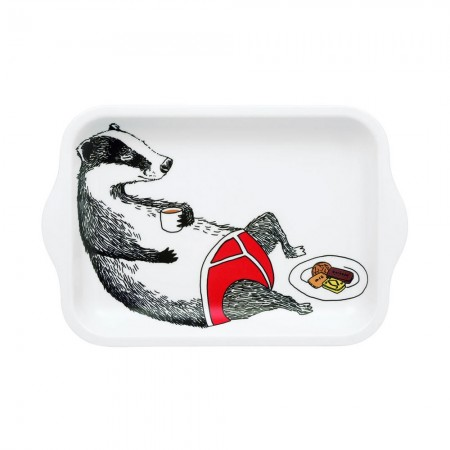 Badger in Pants Mini Tea Tray - Red Candy
