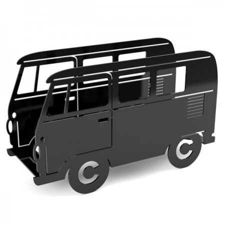 Campervan Magazine Rack (Black) - Red Candy