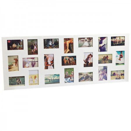 Flat Face 21 Multi Photo Frame - Red Candy