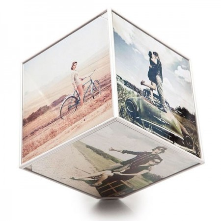 Kube Rotating Photo Display - Red Candy