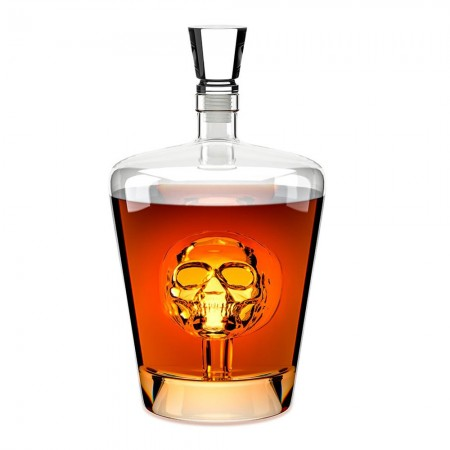 Poison Skull Whiskey Decanter - Red Candy