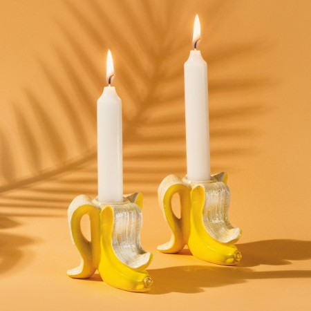 Banana Candle Holders (Set of 2) - Red Candy