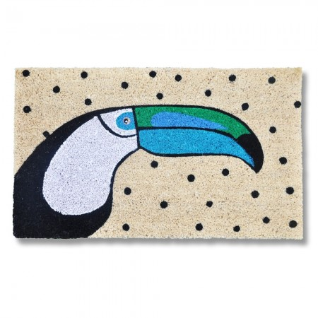 Toucan Doormat - Red Candy