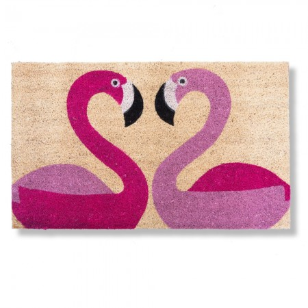Flamingo Doormat - Red Candy