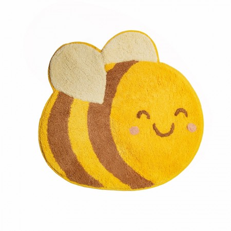 Bee Happy Rug -  Red Candy
