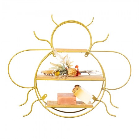 Gold Bee Shelf - Red Candy