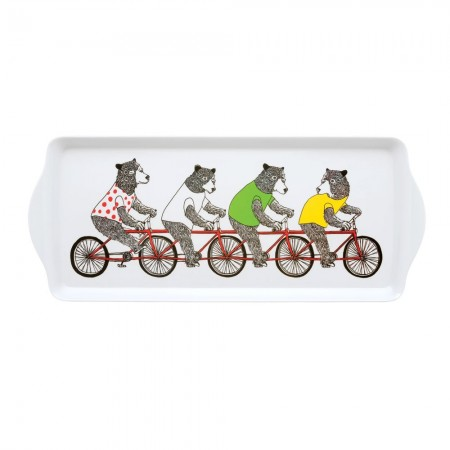 Bicycling Bears Sandwich Tray - Red Candy