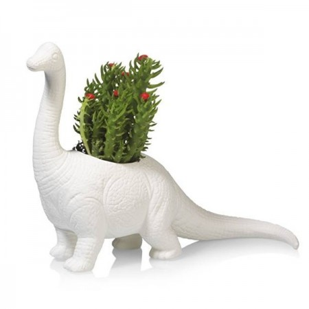 Plantosaurus Dinosaur Plant Pot - Red Candy