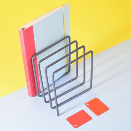 Block Magazine Rack (Grey) - Red Candy