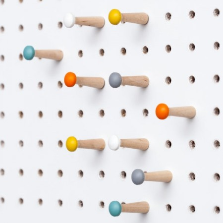 Block PegBoard Accessories (Coloured Pegs) - Red Candy