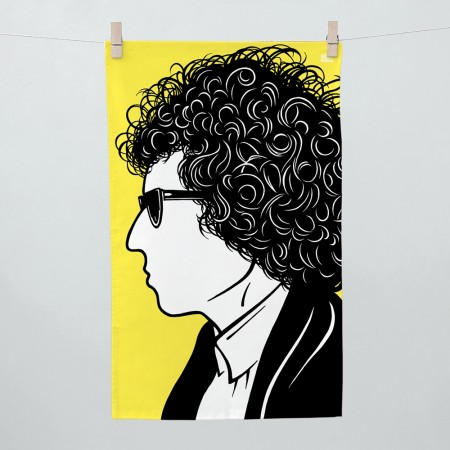 Bob Dylan Tea Towel - Red Candy