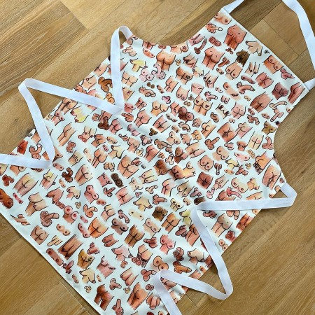 Boobs, Bums & Willies Apron - Red Candy