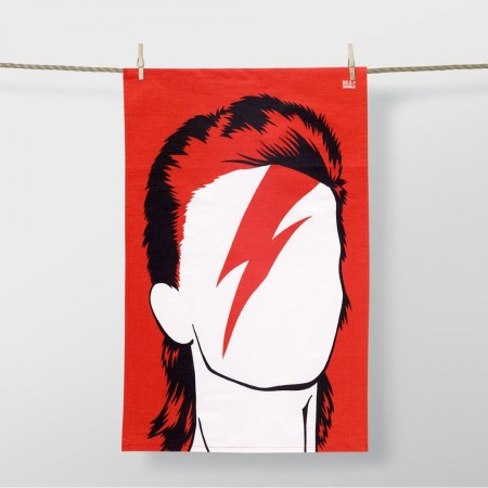 David Bowie Tea Towel - Red Candy