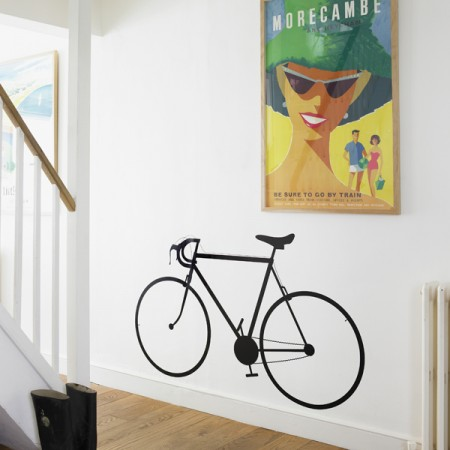 Racing Bike Wall Sticker - Red Candy