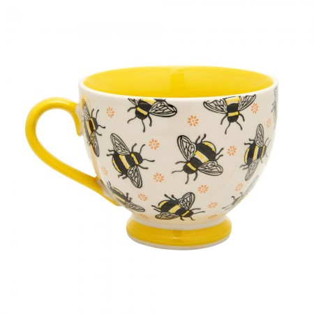 Busy Bees Stamped Mug - Red Candy