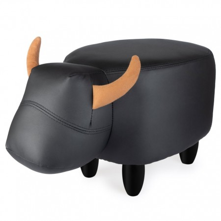 Byron the Bull Footstool - Red Candy