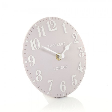 Thomas Kent Arabic Mantel Clock in Dusty Pink - Red Candy