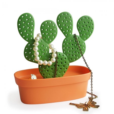 Cactus Jewellery Tidy - Red Candy