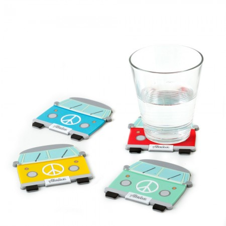 Campervan Coasters (Set of 4) - Red Candy