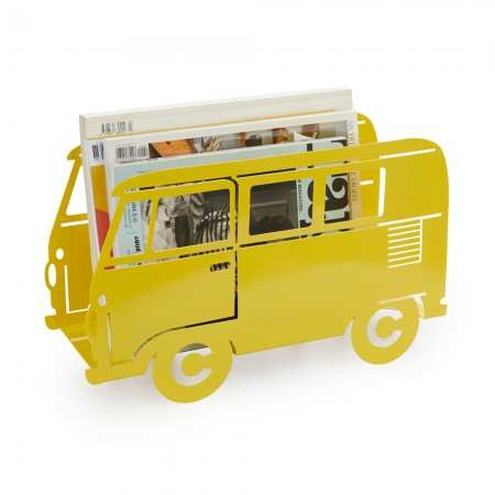 Campervan Magazine Rack (Yellow) - Red Candy