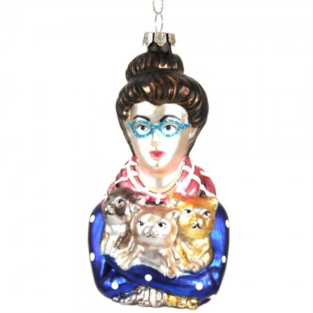 Cat Lady Bauble - Red Candy