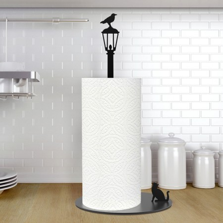 Cat n' Crow Kitchen Roll Holder - Red Candy
