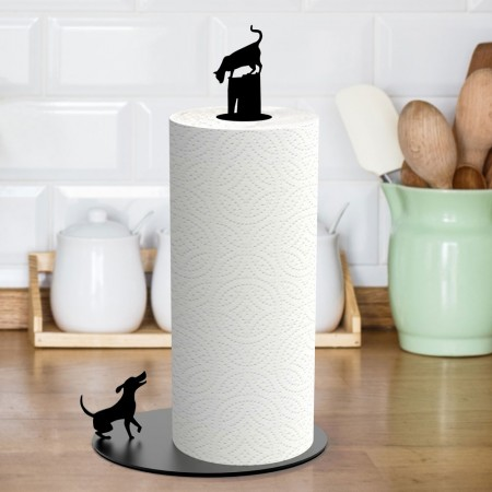 Cat n' Dog Kitchen Roll Holder - Red Candy