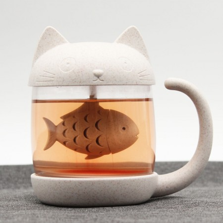 Cat Tea Infuser Cup - Red Candy