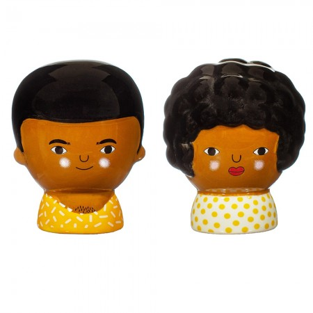 Chantelle and Ezra Salt & Pepper Shakers- Red Candy