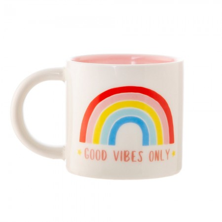 Good Vibes Only Rainbow Mug - Red Candy