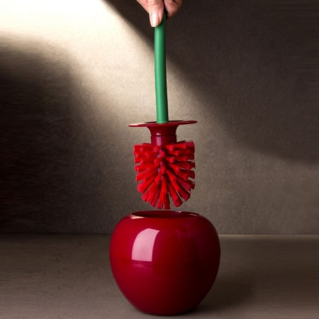 Cherry Toilet Brush and Holder - Red Candy