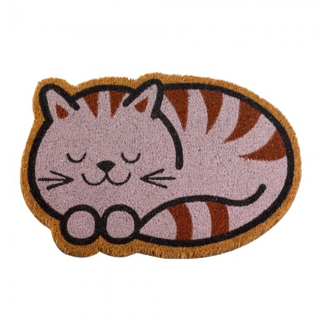 Cheshire Cat Doormat - Red Candy
