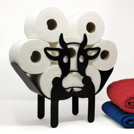 Clarabelle the Cow Toilet Roll Stand - Red Candy