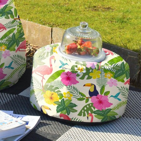 Tropical Birds Footstool Bean Bag