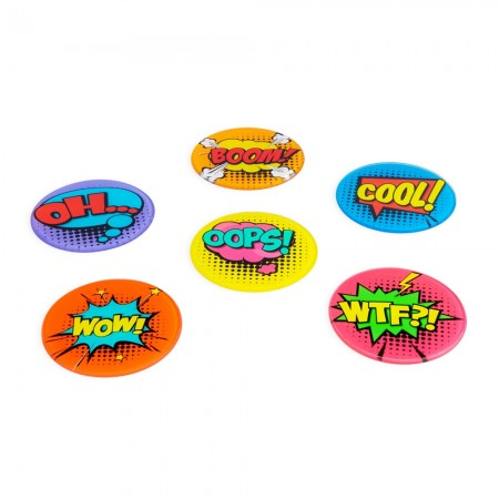 Comic Book Coasters (Set of 6) - Red Candy