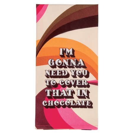 Cover In Chocolate Tea Towel - Red Candy