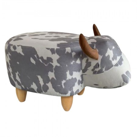 Crystal the Cow Footstool - Red Candy