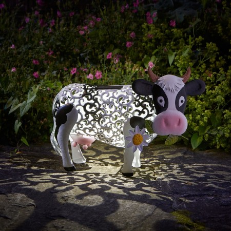 Daisy Cow Solar Garden Light - Red Candy