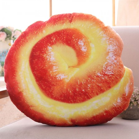 Danish Pastry Cushion - Red Candy