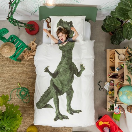 Dino Duvet Set - Red Candy