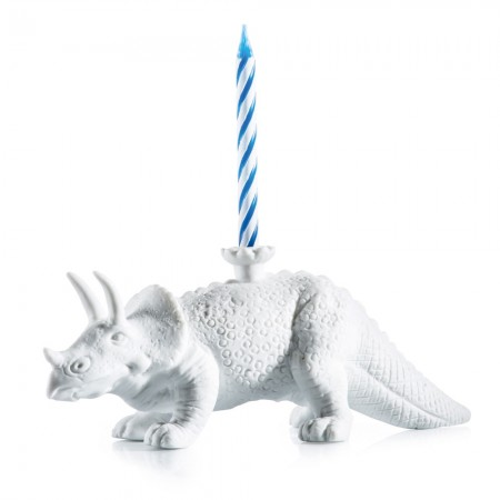 Dinosaur Birthday Candle Holder - Red Candy