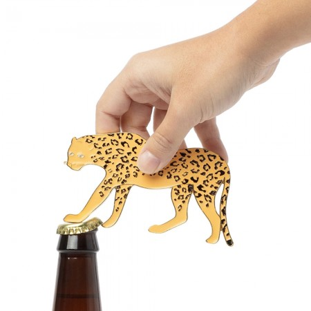 Leopard Bottle Opener - Red Candy