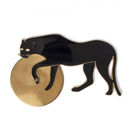 Panther Pizza Cutter - Red Candy