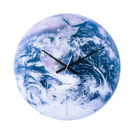 Earth Wall Clock - Red Candy